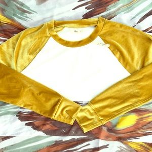 Madewell velour baseball shirt